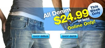 Denim Sale in Scoop on Shopping for Women, Teen, Girls, Fashion, Clothing, Shoes, specials, reductions, Bargains Sales