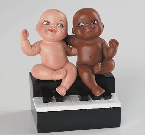 Ebony and ivory live together in perfect harmony