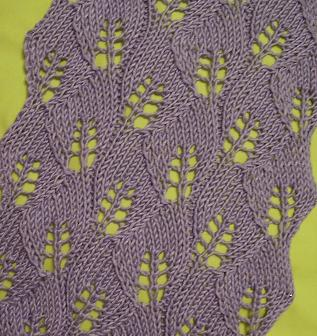 COMING UP BLANK: Knitting: Lace Leaf Scarf