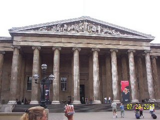 The front of the British Museum in London