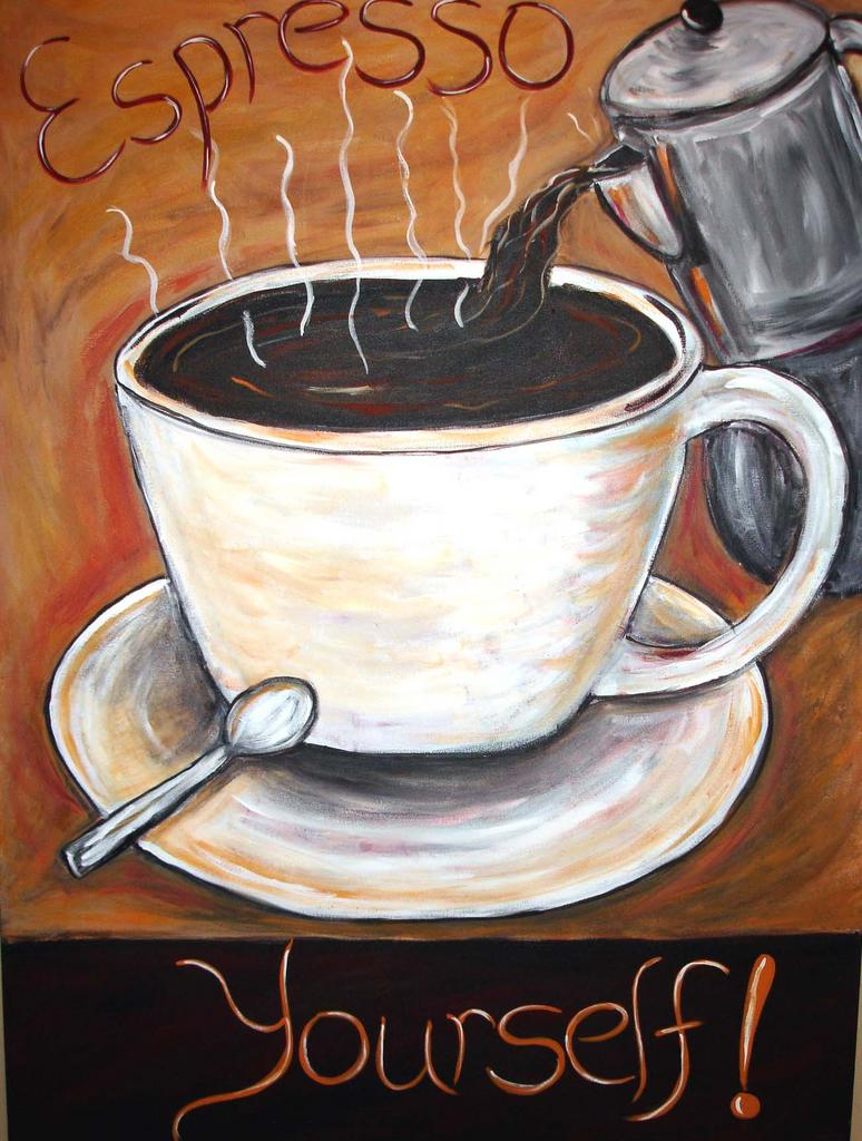 Coffee Art Coffee Home Decor Espresso Paintings