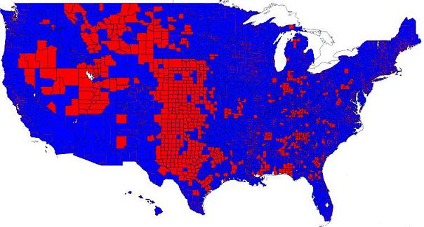 Election Results In The Third Dimension Metrocosm What This - Red blue map of us by county
