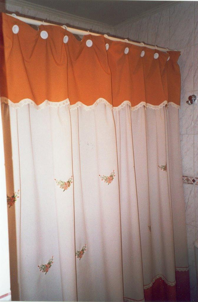 Cortinas De Baño Bordadas A Maquina:de baño Compuesto por cortina, tapa papel higienico, tapa de