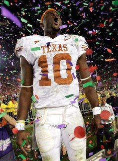 Vince Young.  Photo by Mike Blake/Reuters