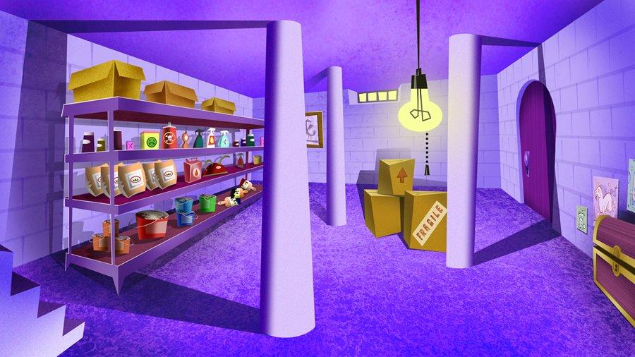 Cartoon curio i 39 m an interior designer for cartoons - Picture of basement ...