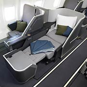 inside biz class Eos Airlines offering free companion ticket for summer travel between London and New York