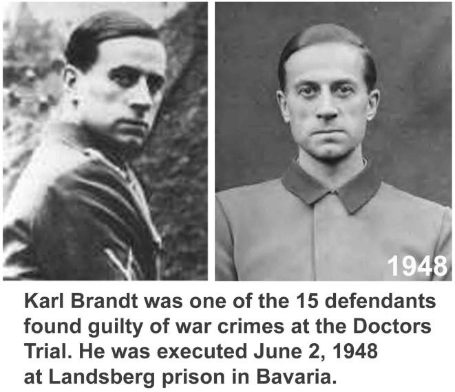 Karl Brandt, ejecutado en 1948, Comisionado del Reich para Salud