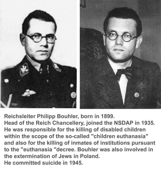 Philip Bouhler, responsable de la eutanasia infantil en 1939; luego se dedicó al exterminio de judíos polacos