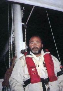 Dando Pignataro in barca