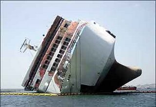 Drowning ship, Titanic