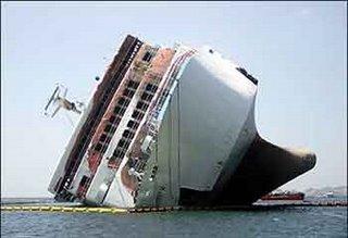 Drowning ship, Titanic