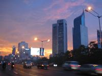 Jakarta at night