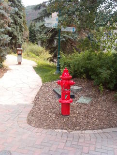 Fire Hydrant near creek in Vail, Colorado