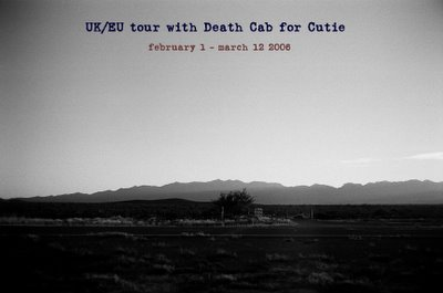 John Vanderslice and Death Cab For Cutie Tour