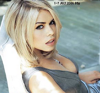 Billie Piper pictured on the Radio Times