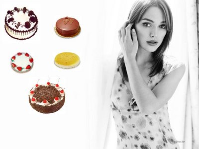 Keira Knightley love cakes