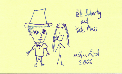 Post-it Note Art #6 - Pete Doherty and Kate Moss
