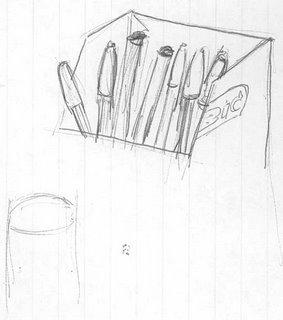 Bunch of Bic Pens Doodle