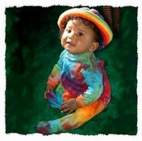 an incredible tie-dye baby-grow