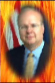 Rove up in flames