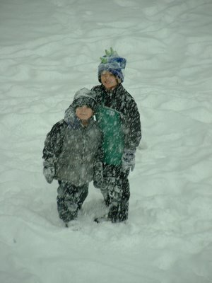 Michael & Nick enjoy a snow day