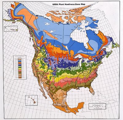 1990 USDA Plant Hardiness Zone Map