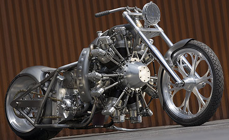 Faster and Faster  Jesse James seven cylinder  2800cc  Aero Bike