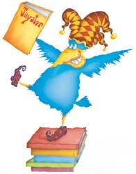 libros y pájaro