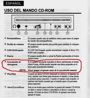 Recordad: Apagad el CD-Rom antes de eyacular en él.
