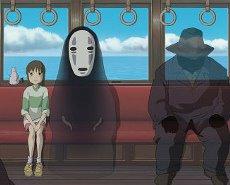 Chihiro junto a mi personaje favorito
