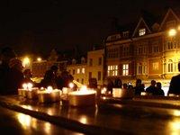 Cambridge vigil when 100th UK soldier was killed in Iraq