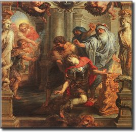 Death of Achilles; it appears he became rather effete in his last moments