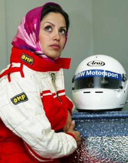Iranian champion racer Laleh Seddigh