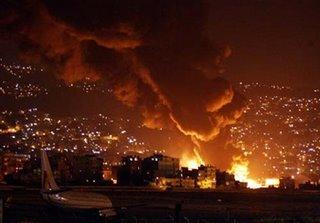 Beirut ablaze