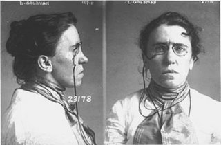 Emma Goldman, anarchist, she was arrested in 1901 for a plot to assassinate whom?