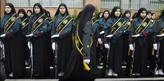 Iranian policewomen, who Deborah Orr claims have no independent life outside of the home