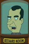 Nixon's pickled head (from Futurama)