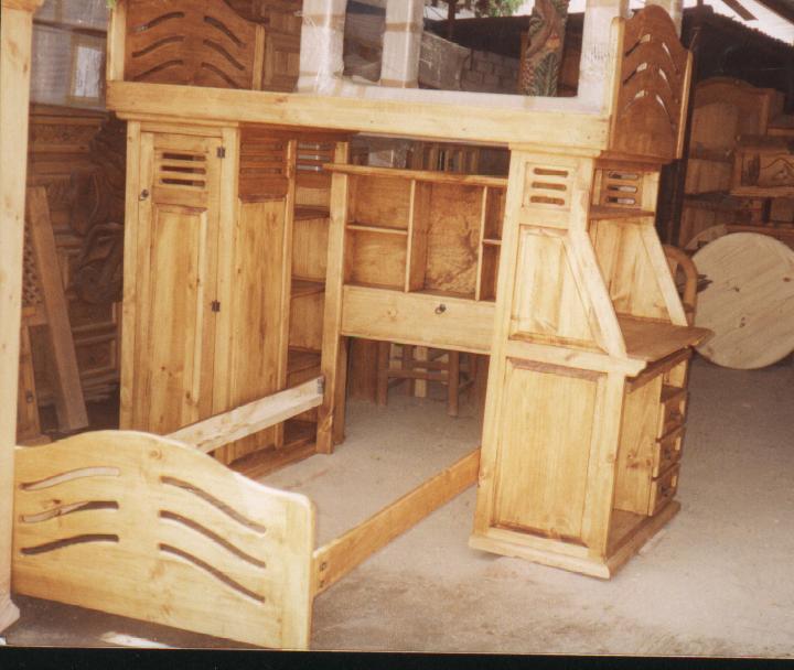Galeria mexique muebles rusticos literas for Muebles rusticos recamaras