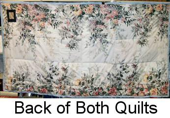 Photograph: Back of both quilts by Sue Burkhart.
