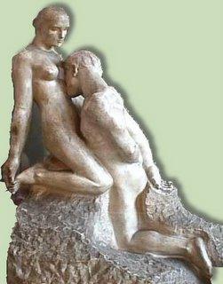 Los amantes- de Rodin