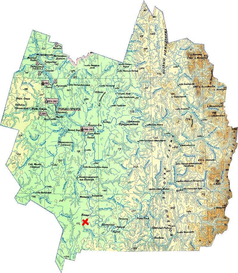 топографическая карта троицко