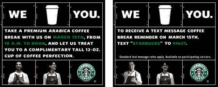 FREE STARBUCKS COFFEE | make the logo bigger