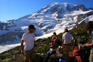 Mount Rainier on a sunny day.