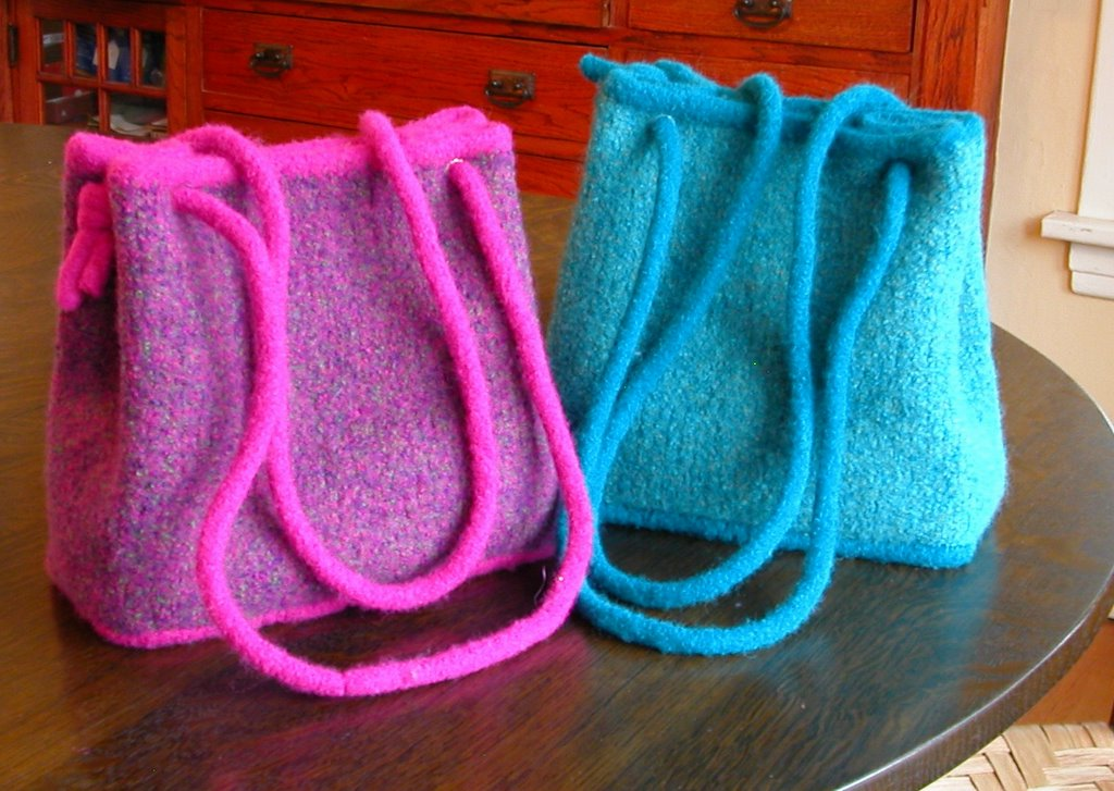 Felted Handbag Workshop Free Pattern The Coco Bag