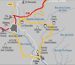 Mapa de la ruta PRV 92