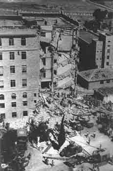 The King David Hotel, Jerusalem, bombed by Zionists 22 July 1946