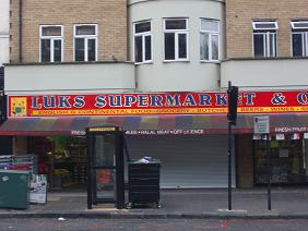 Our supermarket and off-licence, opposite Abney Park cemetery