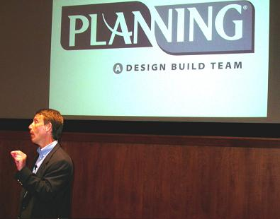 We plan, we design and we build. Sod you.