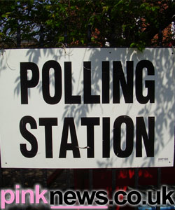 A lovely picture of one of our more floral polling stations