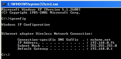 command prompt windows xp software